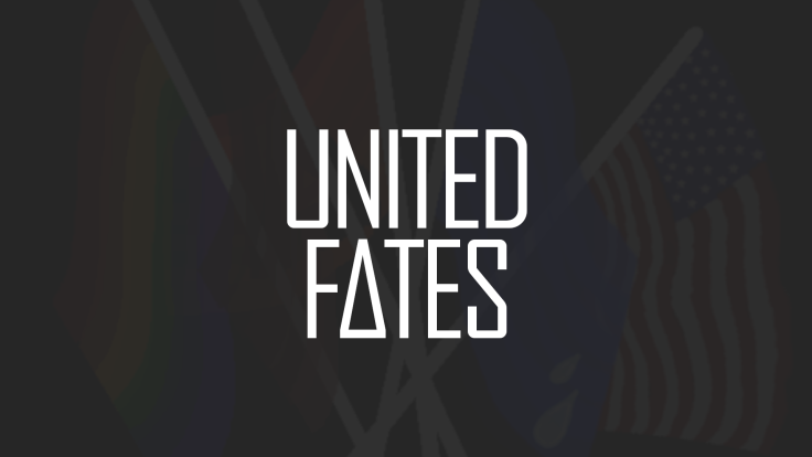 basic banner_flags behind white logo